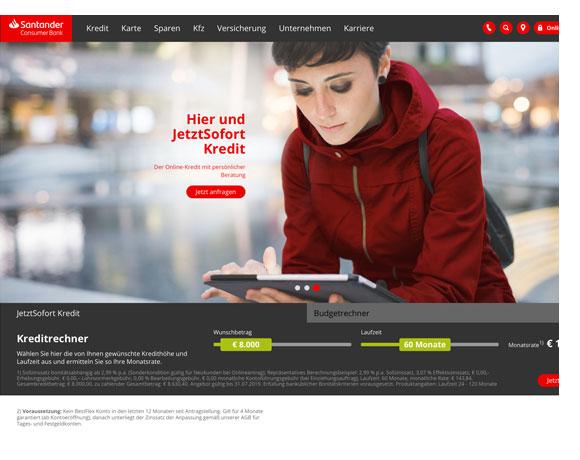 Santander Online Kredit Empfehlung 2020 in Österreich
